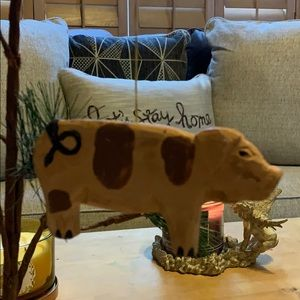 """2.5"""" tall wooden 🐖 pig Christmas tree ornament"""